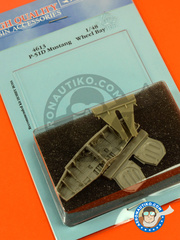 Aires: Wheel bay 1/48 scale - North American P-51 Mustang - Wheel Bay D - USAF - resin parts - for Hobby Boss kit  image