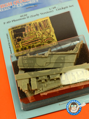 Aires: Cockpit set 1/48 scale - McDonnell Douglas F-4 Phantom II D Early version - photo-etched parts and resin parts - for Academy kit
