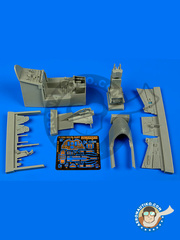 Aires: Cockpit set 1/48 scale - Convair F-106 Delta Dart A - photo-etched parts and resin parts - for Trumpeter kits image