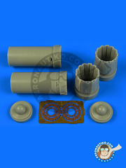 Aires: Exhaust nozzle 1/48 scale - McDonnell Douglas F/A-18 Hornet C - photo-etched parts and resin parts - for Kinetic kits