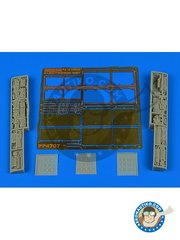 Aires: Electronic bay 1/48 scale - F/A-18 Hornet electronic bay - photo-etched parts, resin parts and assembly instructions - for los F-18 by Kinetic Model Kits