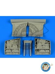 Aires: Electronic bay 1/48 scale - F-15 Eagle electronic bay - resin parts and assembly instructions - for F-15 by Great Wall Hobby