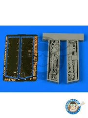 Aires: Electronic bay 1/48 scale - F-4J Phantom II electronic bay - photo-etched parts and resin parts - for F-4 Phantom by Zoukei-Mura