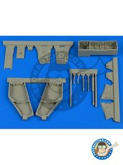 Aires: Wheel bay 1/48 scale - F-4J/S Phantom II wheel bay - resin parts - for F-4 Phantom by Zoukei-Mura