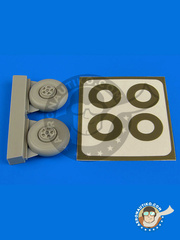 Aires: Wheels 1/72 scale - Bristol Beaufighter TF Mk. X - paint masks and resin parts - for Airfix kit image