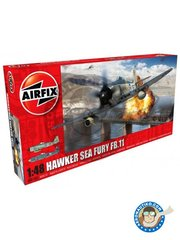 Airfix: Airplane kit 1/48 scale - Hawker Sea Fury FB. II - Korean War, 1952 (GB3); Northen Ireland, 1948 (GB3) - RAF - plastic parts, water slide decals and assembly instructions image