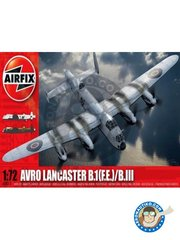Airfix: Airplane kit 1/72 scale - Avro Lancaster B.1(F.E.)/B.III - Cambridgeshire, England, 1945 (GB0); Lincolnshire, England, August 1943 (GB1) - RAF - plastic parts, water slide decals and assembly instructions