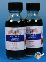 Alclad: Paint - Steel  - 30ml bottle - for Airbrush