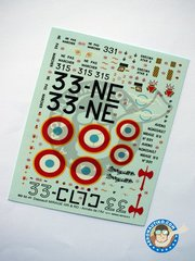 Berna Decals: Marking / livery 1/32 scale - Dassault Mirage IIIR - Strasbourg-Entzheim 1973  (FR0) - Armée de l'Air - water slide decals and placement instructions - for all kits