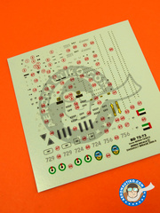 Berna Decals: Marking / livery 1/72 scale - Dassault Mirage 2000 9EAD - United Arab Emirates Air Force (AE0) - different locations, Dubai Air Show 2008 and 2011 - water slide decals and placement instructions - for all kits