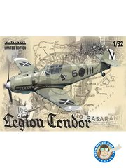 Eduard: Airplane kit 1/32 scale - Bf 109 Legion Condor. Limited Edition -  (ES3); early 1939 (ES3) - full colour photo-etched parts, paint masks, photo-etched parts, plastic parts, resin parts, water slide decals and assembly instructions