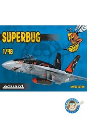 Eduard: Airplane kit 1/48 scale - Superbug F-18 Hornet - 2013 (US0); 2010 (US0); 2015 (US0); 2017 (US1) - full colour photo-etched parts, paint masks, plastic parts, resin parts, water slide decals and assembly instructions