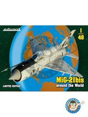"Eduard: Airplane kit 1/48 scale - MiG-21bis ""Around the World"" - i protvrracna obrana, Zagreb - Pleso, December 2016 (HR4); Afganistan, 1980 (RU3); Hungary, 1992 (HU5); November 2011 (LY0); Doly, Poland, June 2000 (PL0); Iraq, 90's (IQ1) - full colour photo-etched parts, paint masks, photo-etched parts, plastic parts, resin parts, water slide decals and assembly instructions"