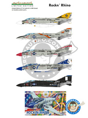 Eduard: Airplane kit 1/48 scale - McDonnell Douglas F-4 Phantom II J - US Navy (US0); USAF (US2) - different locations image