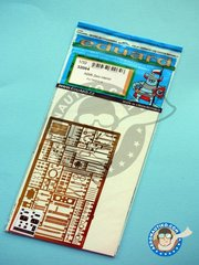 Eduard: Photo-etched parts 1/32 scale - A6M5 Zero interior - photo-etched parts, water slide decals and assembly instructions - for Tamiya kit