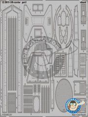 Eduard: Photo-etched parts 1/32 scale - Grumman F-14D Exterior - photo-etched parts - for Trumpeter kits
