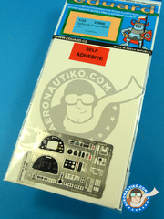 Eduard: Coloured photo-etched cockpit parts 1/32 scale - Supermarine Spitfire: Cockpit Mk. IX early - full colour photo-etched parts and photo-etched parts - for Tamiya kit