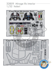 Eduard: Photo-etched parts 1/32 scale - Dassault Mirage III C - for Italeri reference 2505 image