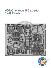Eduard: Photo-etched parts 1/48 scale - Dassault Mirage III E - for Kinetic kit image