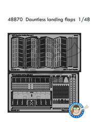 Eduard: Photo-etched parts 1/48 scale - Douglas SBD Dauntless 5 - for Eduard reference 1165 image
