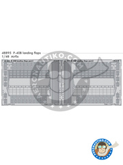Eduard: Flaps 1/48 scale - Curtiss P-40B Warhawk landing flaps B - photo-etched parts and assembly instructions - for Airfix kits image
