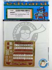 Eduard: Flaps 1/48 scale - Spitfire Mk.I landing flaps - photo-etched parts and assembly instructions - for Tamiya kits