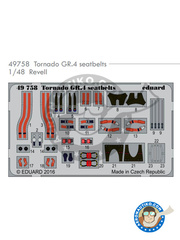 Eduard: Seatbelts 1/48 scale - Panavia Tornado seatbelts GR. 4 - full colour photo-etched parts and assembly instructions - for Revell kits