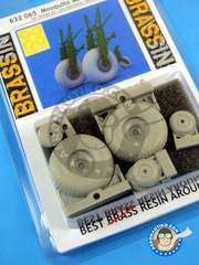 Eduard: Wheels 1/32 scale - De Havilland Mosquito FB Mk. VI - resin parts - for Tamiya kit image