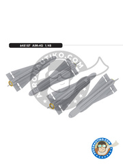 Eduard: Missiles 1/48 scale - Hughes AIM-4 Falcon G - photo-etched parts, resin parts, water slide decals and assembly instructions - for all kits - 4 units image