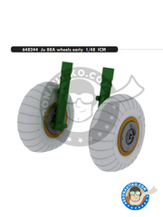 Eduard: Wheels 1/48 scale - Junkers Ju-88 A-5 - for ICM reference 48232 image