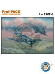 Eduard: Airplane kit 1/72 scale - Focke-Wulf Fw 190 Würger F-8 - Achmer, early summer 1943. (DE2) - Luftwaffe - full colour photo-etched parts, paint masks, photo-etched parts, plastic parts, water slide decals and assembly instructions image