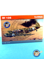 Eduard: Airplane kit 1/48 scale - Messerschmitt Bf 108 Taifun - Achmer, early summer 1943. (DE2) - Luftwaffe - plastic parts, water slide decals and assembly instructions image