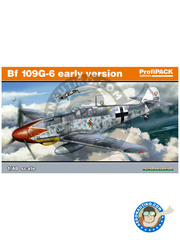 Eduard: Airplane kit 1/48 scale - Messerschmitt Bf 109 G-6 early - Luftwaffe (DE2); September 1940 (DE2) 1943 and 1944 - full colour photo-etched parts, plastic parts, water slide decals and assembly instructions image