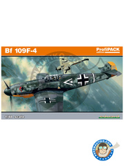 Eduard: Airplane kit 1/48 scale - Messerschmitt Bf 109 F-4 - Achmer, early summer 1943. (DE2) - full colour photo-etched parts, paint masks, photo-etched parts, plastic parts, water slide decals and assembly instructions image
