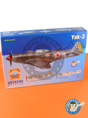 Eduard: Airplane kit 1/48 scale - Yakovlev Yak-3 - Russian Air Force (RU2) - plastic parts, water slide decals and assembly instructions image
