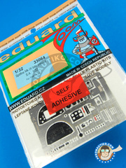 Eduard: Coloured photo-etched cockpit parts 1/32 scale - Supermarine Spitfire Mk. IX - RAF - full colour photo-etched parts and assembly instructions - for Tamiya kit