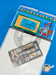 Eduard: Seatbelts 1/48 scale - Panavia Tornado seatbelts IDS - full colour photo-etched parts and assembly instructions - for Hobby Boss kit