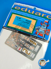 Eduard: Seatbelts 1/48 scale - Panavia Tornado seatbelts ECR - full colour photo-etched parts and assembly instructions - for Hobby Boss kit