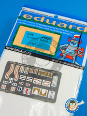 Eduard: Seatbelts 1/48 scale - Panavia Tornado seatbelts Gr. 1 - full colour photo-etched parts and assembly instructions - for Hobby Boss kit