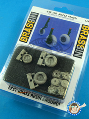 Eduard: Wheels 1/48 scale - Messerschmitt Me 262 Schwalbe A-1A - resins - for Tamiya reference TAM61087 image