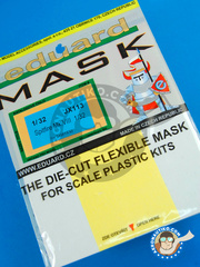 Eduard: Masks 1/32 scale - Supermarine Spitfire Mk. VIII - paint masks and placement instructions - for Tamiya kit
