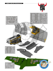Eduard: BIG SIN 1/48 scale - Supermarine Spitfire Mk. XVI Bubbletop - for Eduard reference 84141 image