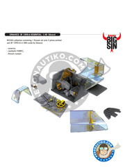 Eduard: BIG SIN 1/48 scale - Messerschmitt Bf 109 G-6 - full colour photo-etched parts, assembly instructions, photo-etched parts and resin parts - for Eduard reference 82111 image