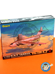 Great Wall Hobby: Airplane kit 1/144 scale - Handley Page Victor K.2 Tanker - RAF (GB1) - Gulf war - Desert Storm 1991 - plastic parts, water slide decals and assembly instructions image