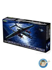 Great Wall Hobby: Airplane kit 1/48 scale - Northrop P-61B 'Black Widow' WWII USAAF - Last Shoot Down 1945 - Iwo Jima, April 1945 (US7); Iwo Jima, Spring 1945 (US7) - photo-etched parts, plastic parts, water slide decals and assembly instructions