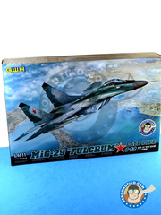 Great Wall Hobby: Airplane kit 1/48 scale - Mikoyan MiG-29 Fulcrum 9-12 Late type - Syrian Arab Air Force (SY0); Russian Air Force (RU2) - different locations - plastic model kit