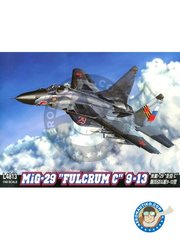 "Great Wall Hobby: Airplane kit 1/48 scale - MiG-29 ""Fulcrum C"" 9-13 - Russian AF (RU1) - photo-etched parts, plastic parts, water slide decals and assembly instructions"