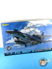 Great Wall Hobby: Airplane kit 1/48 scale - McDonnell Douglas F-15 Eagle C MSIP II - USAF (US2) - different locations - plastic parts, water slide decals and assembly instructions