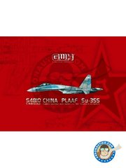 "Great Wall Hobby: Airplane kit 1/48 scale - China PLAAF Su-35S ""Flanker E"" Multi-Role Heavy Fighter - photo-etched parts, plastic parts, water slide decals and assembly instructions"
