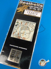 HGW: Seatbelts 1/32 scale - Supermarine Spitfire  - photo-etch and textile - for Tamiya reference TAM32008